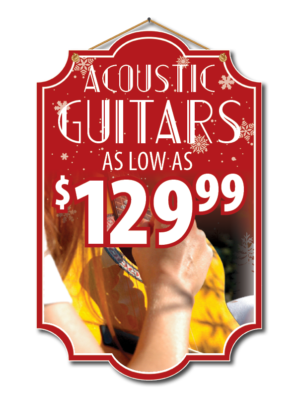 Buy Guitars for Christmas at Robert M Sides